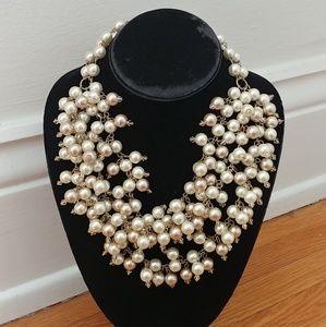 Stella Dot classic Sophia Pearl Bib necklace